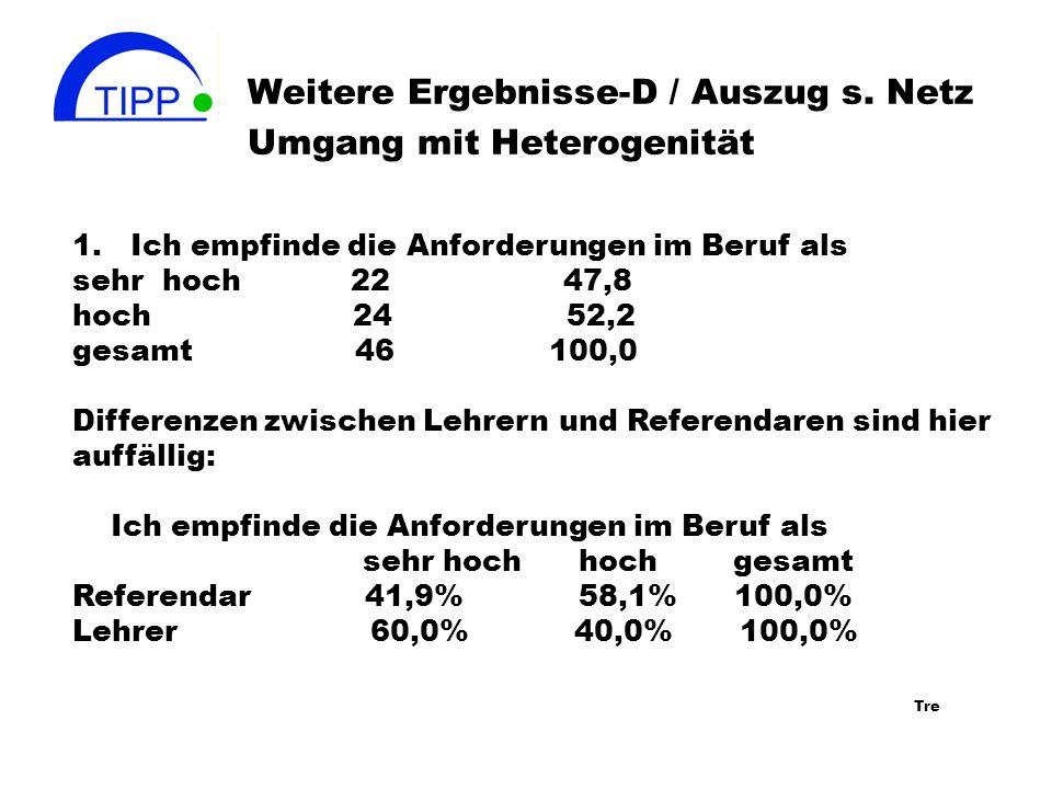 Weitere Ergebnisse-D / Auszug s.Netz Umgang mit Heterogenität 1.
