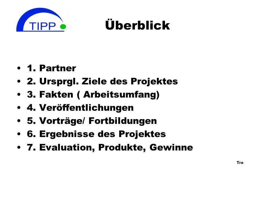 Überblick 1.Partner 2. Ursprgl. Ziele des Projektes 3.