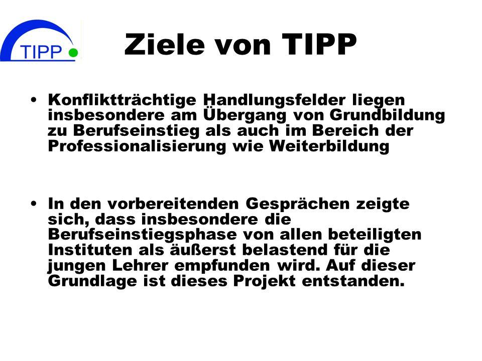Ziele von TIPP Konfliktträchtige Handlungsfelder liegen insbesondere am Übergang von Grundbildung zu Berufseinstieg als auch im Bereich der Profession