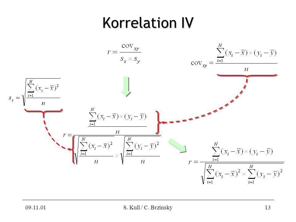 09.11.01S. Kull / C. Brzinsky13 Korrelation IV