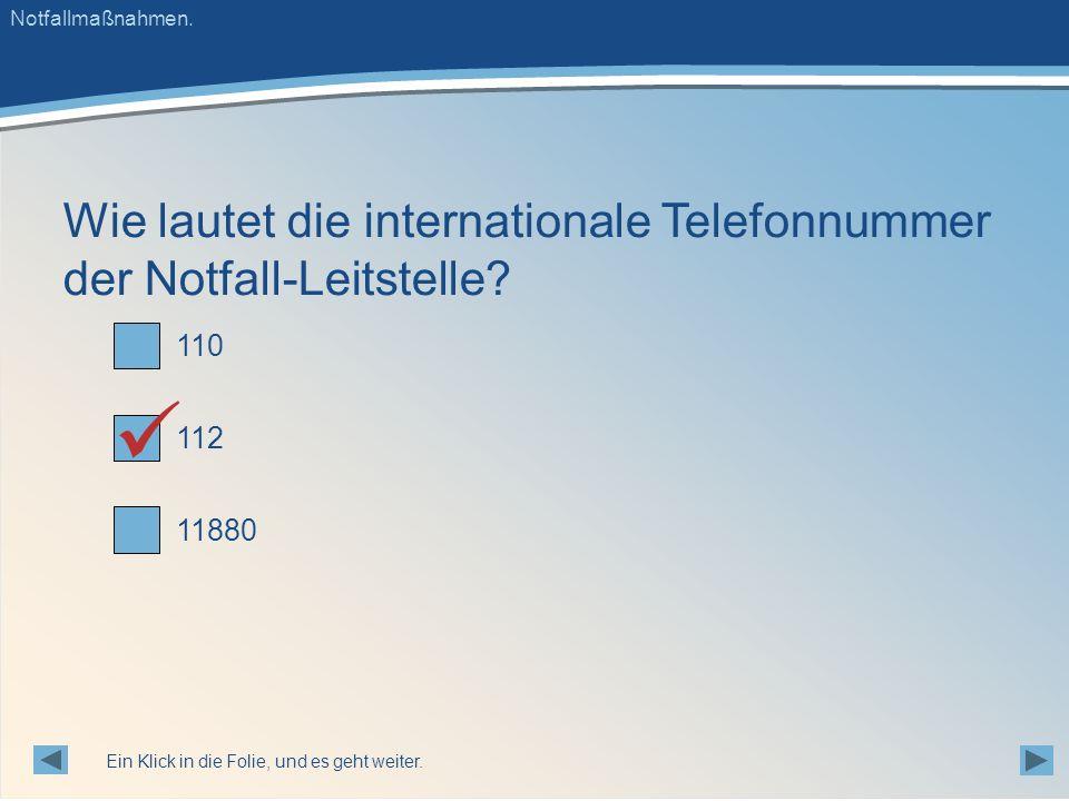 Wie lautet die internationale Telefonnummer der Notfall-Leitstelle.