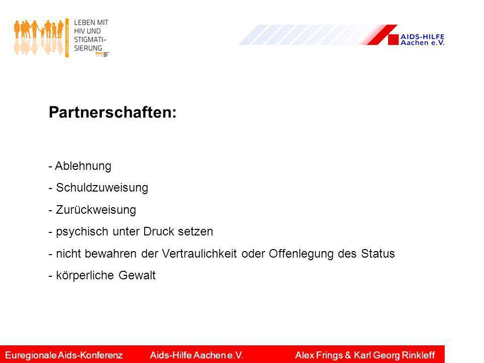 Partnerschaften: - Ablehnung - Schuldzuweisung - Zurückweisung - psychisch unter Druck setzen - nicht bewahren der Vertraulichkeit oder Offenlegung de