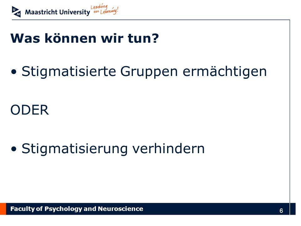 Faculty of Psychology and Neuroscience Peer-led program: SchLAu Aachen Beispiel für eine Einstiegsmethode 17