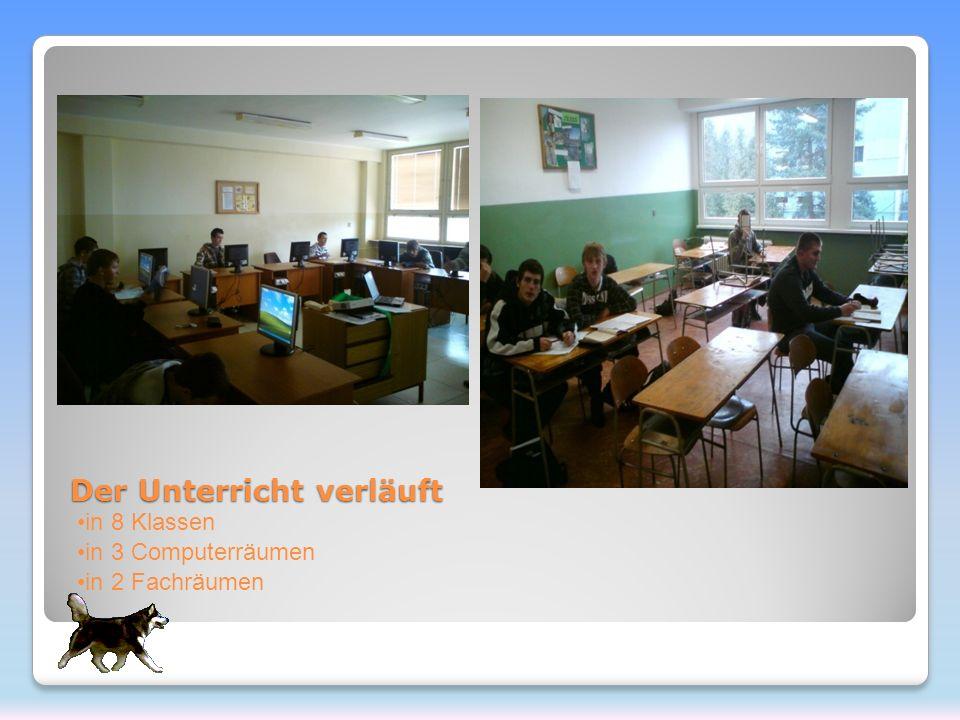 Der Unterricht verläuft in 8 Klassen in 3 Computerräumen in 2 Fachräumen