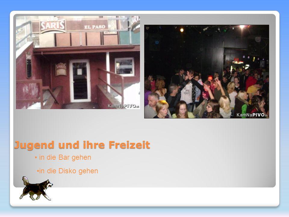 Jugend und ihre Freizeit in die Bar gehen in die Disko gehen