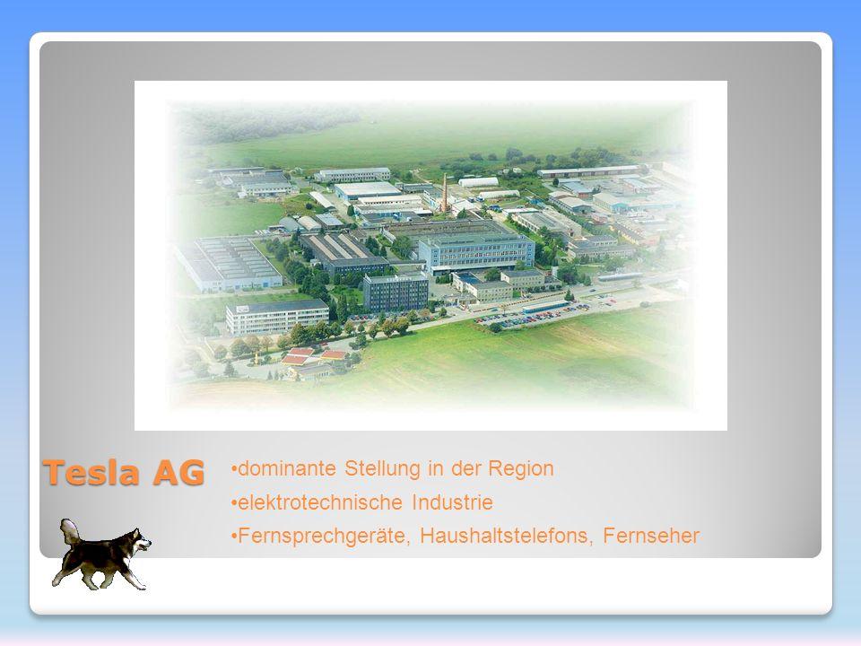 Tesla AG dominante Stellung in der Region elektrotechnische Industrie Fernsprechgeräte, Haushaltstelefons, Fernseher