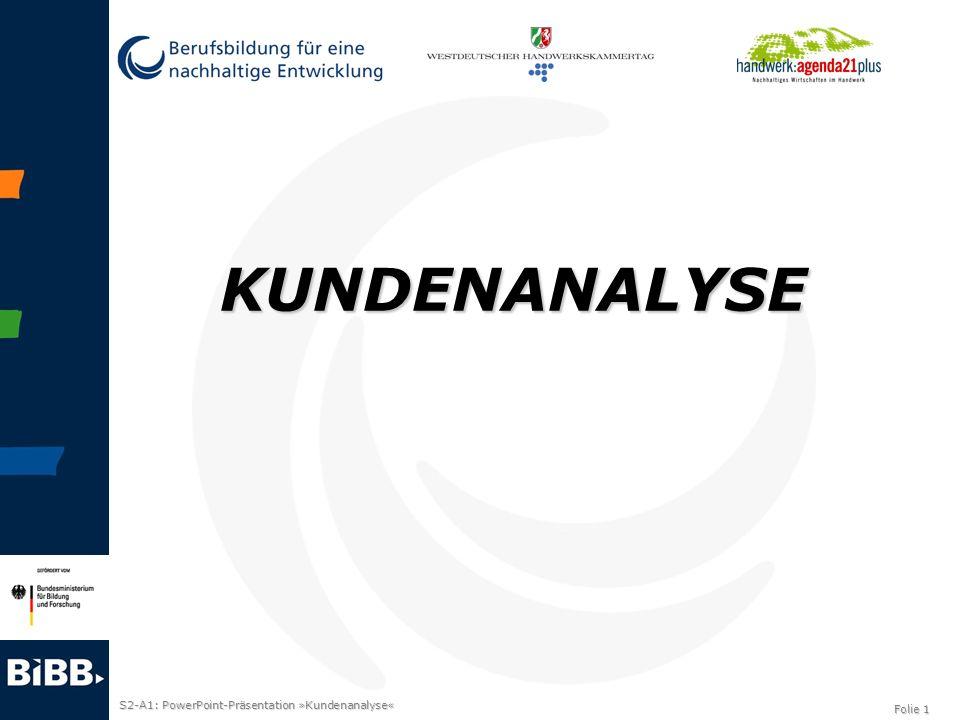 S2-A1: PowerPoint-Präsentation »Kundenanalyse« Folie 1 KUNDENANALYSE