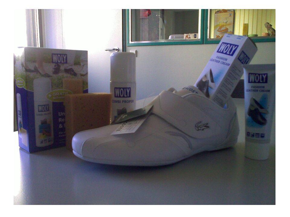 Weißer Sportlicher Sneakers aus Glattleder Reinigung: Combi Proper Pflege: Fashion Leather Cream in Weiß Schutz: Wet Blocker imprägnierung