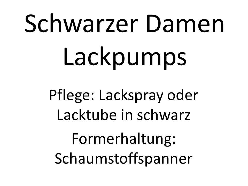 Schwarzer Damen Lackpumps Pflege: Lackspray oder Lacktube in schwarz Formerhaltung: Schaumstoffspanner