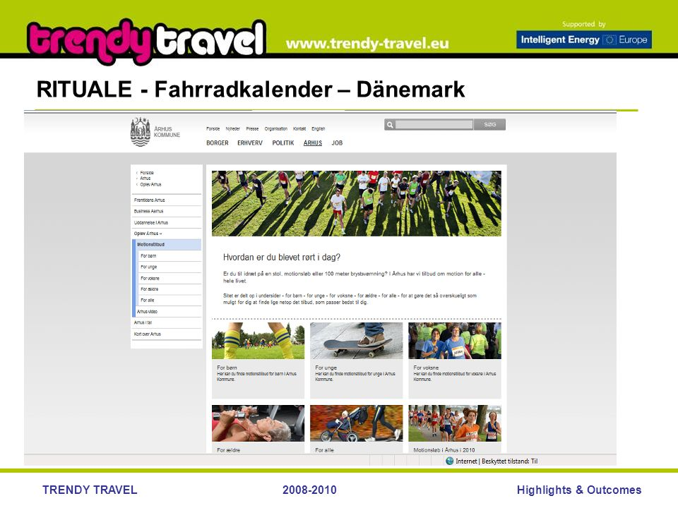 Highlights & OutcomesTRENDY TRAVEL2008-2010 RITUALE - Fahrradkalender – Dänemark