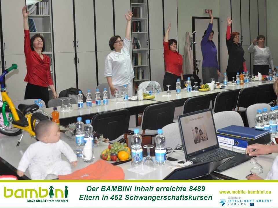 Der BAMBINI Inhalt erreichte 8489 Eltern in 452 Schwangerschaftskursen