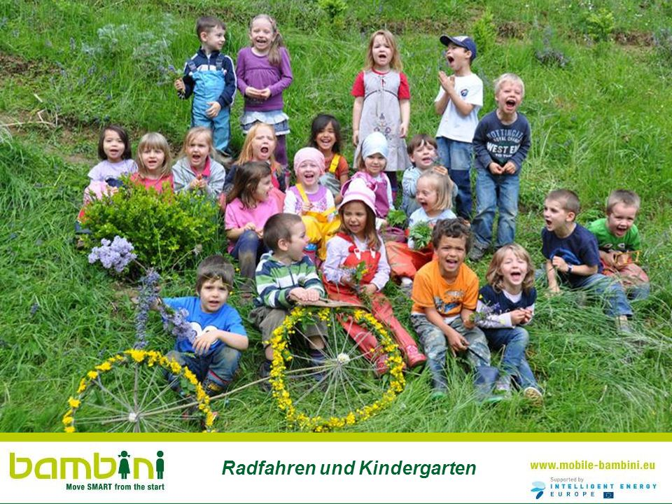 Radfahren und Kindergarten