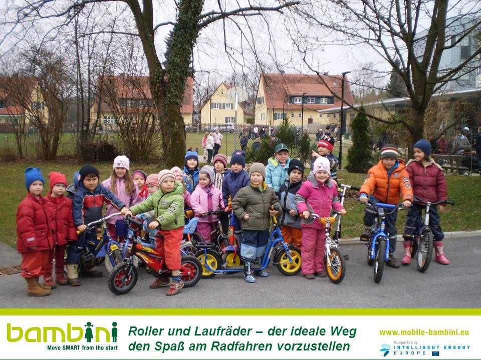 Roller und Laufräder – der ideale Weg den Spaß am Radfahren vorzustellen