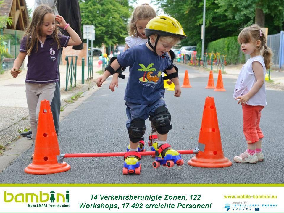 14 Verkehrsberuhigte Zonen, 122 Workshops, 17.492 erreichte Personen!