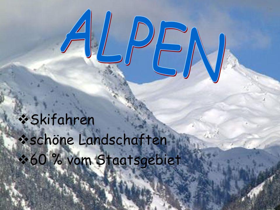 Skifahren schöne Landschaften 60 % vom Staatsgebiet