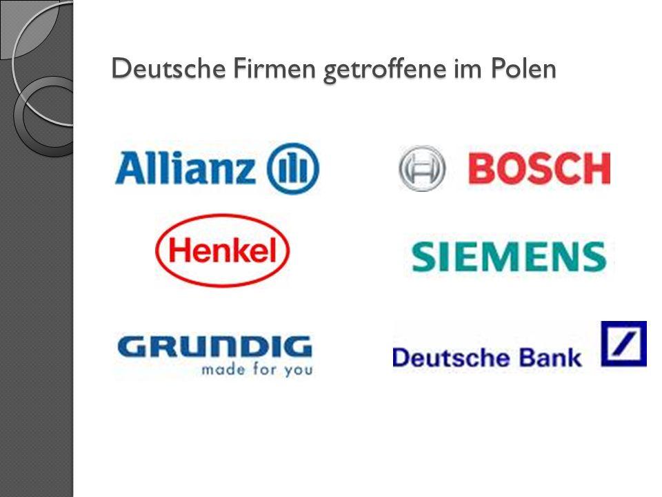 Deutsche Firmen getroffene im Polen