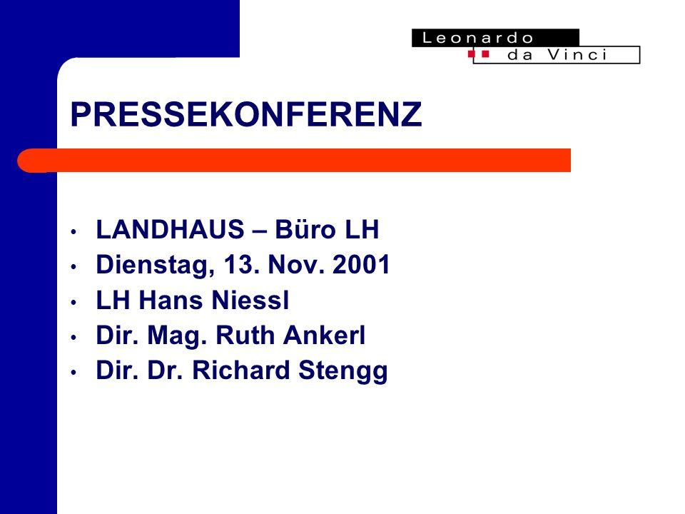 PRESSEKONFERENZ LANDHAUS – Büro LH Dienstag, 13. Nov.
