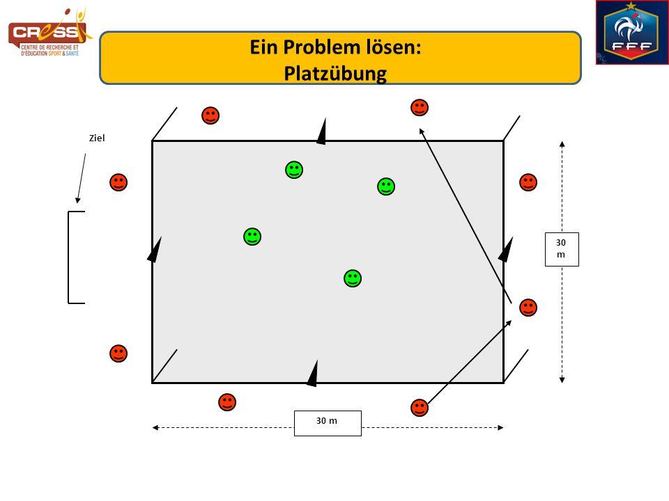 30 m Ziel Ein Problem lösen: Platzübung