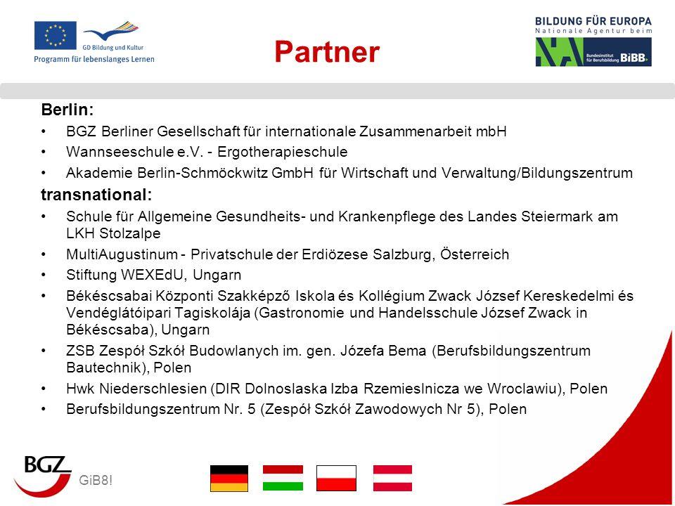 GiB8! Partner Berlin: BGZ Berliner Gesellschaft für internationale Zusammenarbeit mbH Wannseeschule e.V. - Ergotherapieschule Akademie Berlin-Schmöckw