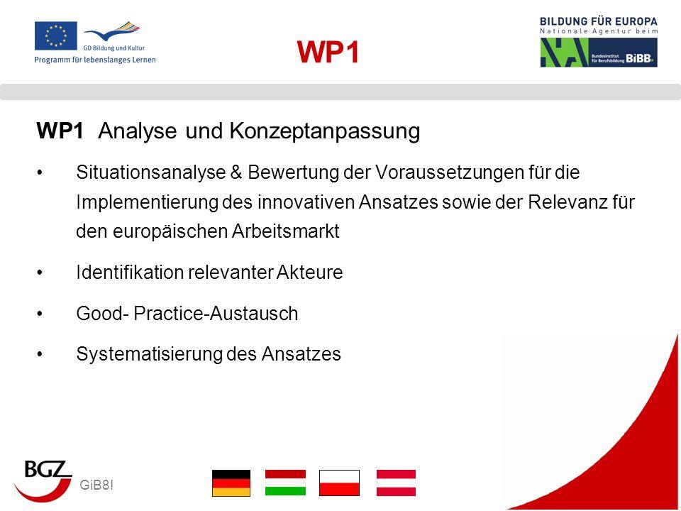 GiB8! WP1 Situationsanalyse & Bewertung der Voraussetzungen für die Implementierung des innovativen Ansatzes sowie der Relevanz für den europäischen A