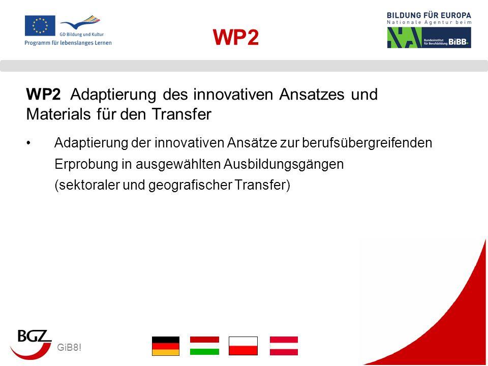 GiB8! WP2 Adaptierung der innovativen Ansätze zur berufsübergreifenden Erprobung in ausgewählten Ausbildungsgängen (sektoraler und geografischer Trans