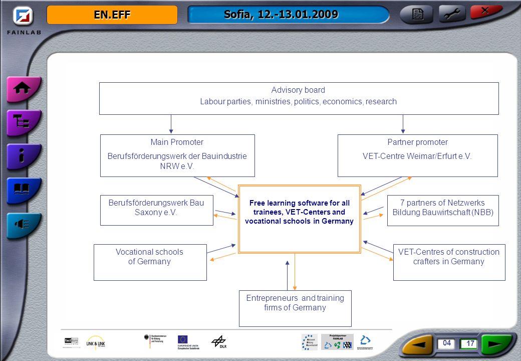 EN.EFF Sofia, 12.-13.01.2009 Main Promoter Berufsförderungswerk der Bauindustrie NRW e.V.