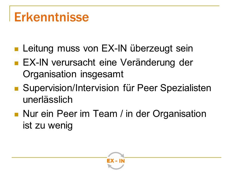 Seit Oktober 2009: Europäisches Innovationstransfer Projekt zum Thema Experten durch Erfahrung Partner aus den Bereichen: Seelische Gesundheit, Armut, Migration Aufbau eines Europäisches Kompetenzzentrums für Experten durch Erfahrung