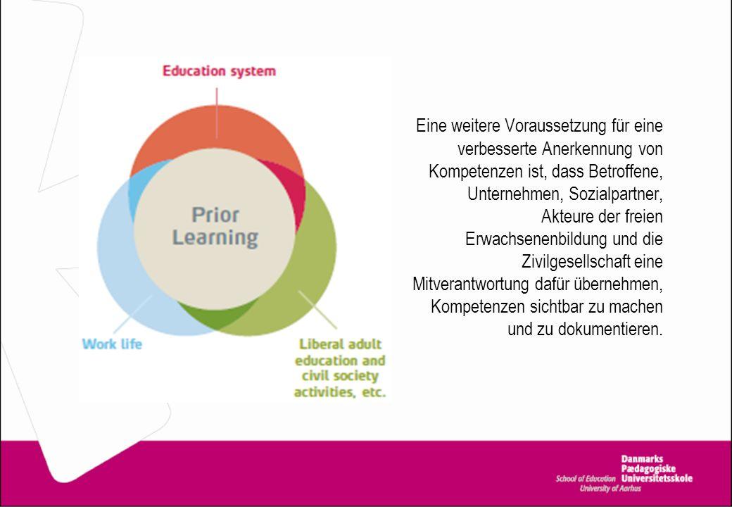 Von der Beratung zur Anerkennung des Kompetenzniveaus Bildungseinrichtungen sollen beraten und über Optionen und Regularien informieren; persönliche Ambitionen und Ziele müssen gehört und geprüft werden.
