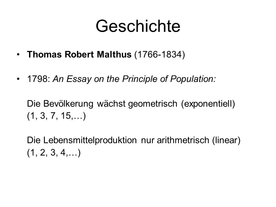 malthus first essay on population 1798