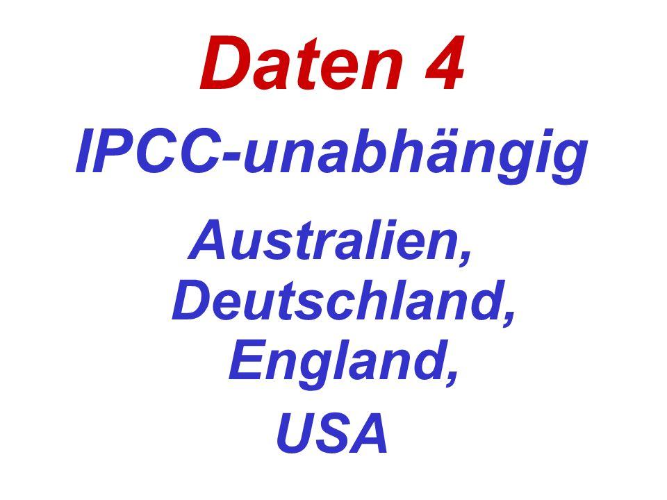 Daten 4 IPCC-unabhängig Australien, Deutschland, England, USA