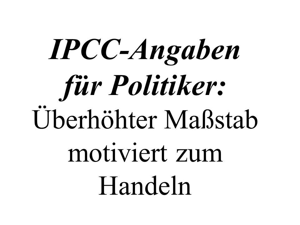 IPCC-Angaben für Politiker: Überhöhter Maßstab motiviert zum Handeln
