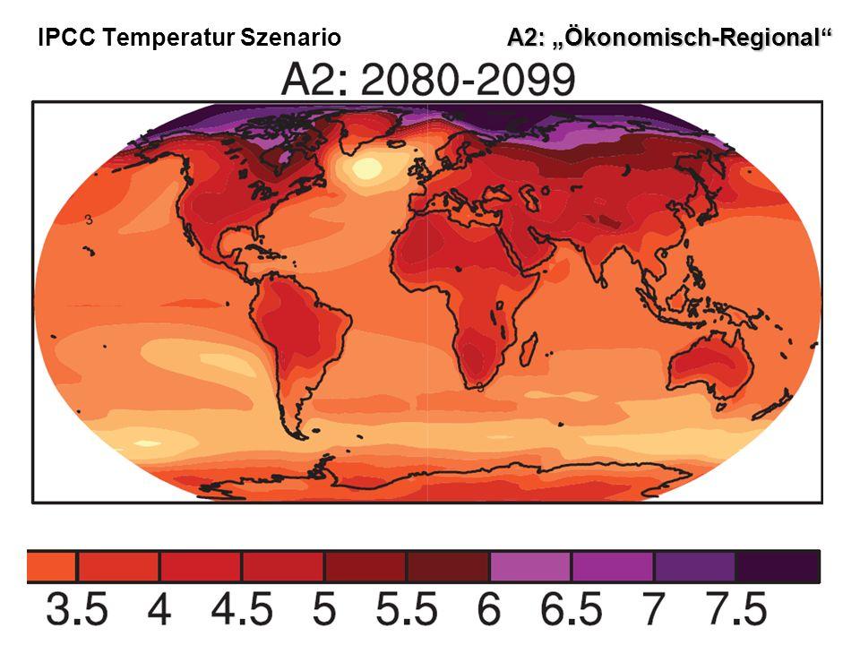 5 IPCC Temperatur Szenario A2: Ökonomisch-Regional