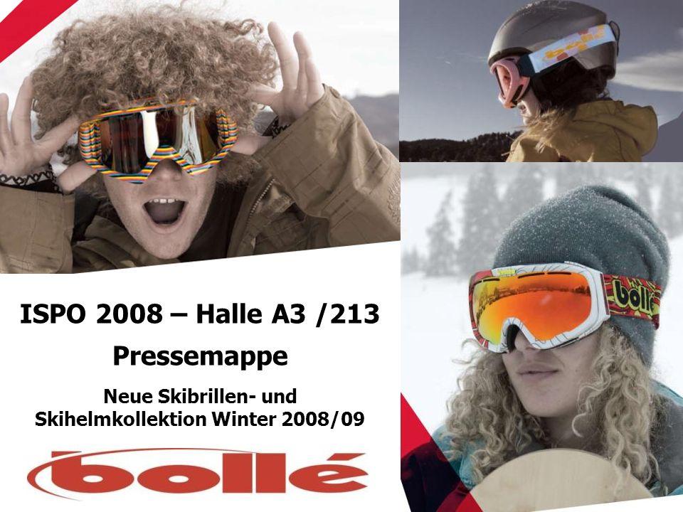 ISPO 2008 – Halle A3 /213 Pressemappe Neue Skibrillen- und Skihelmkollektion Winter 2008/09