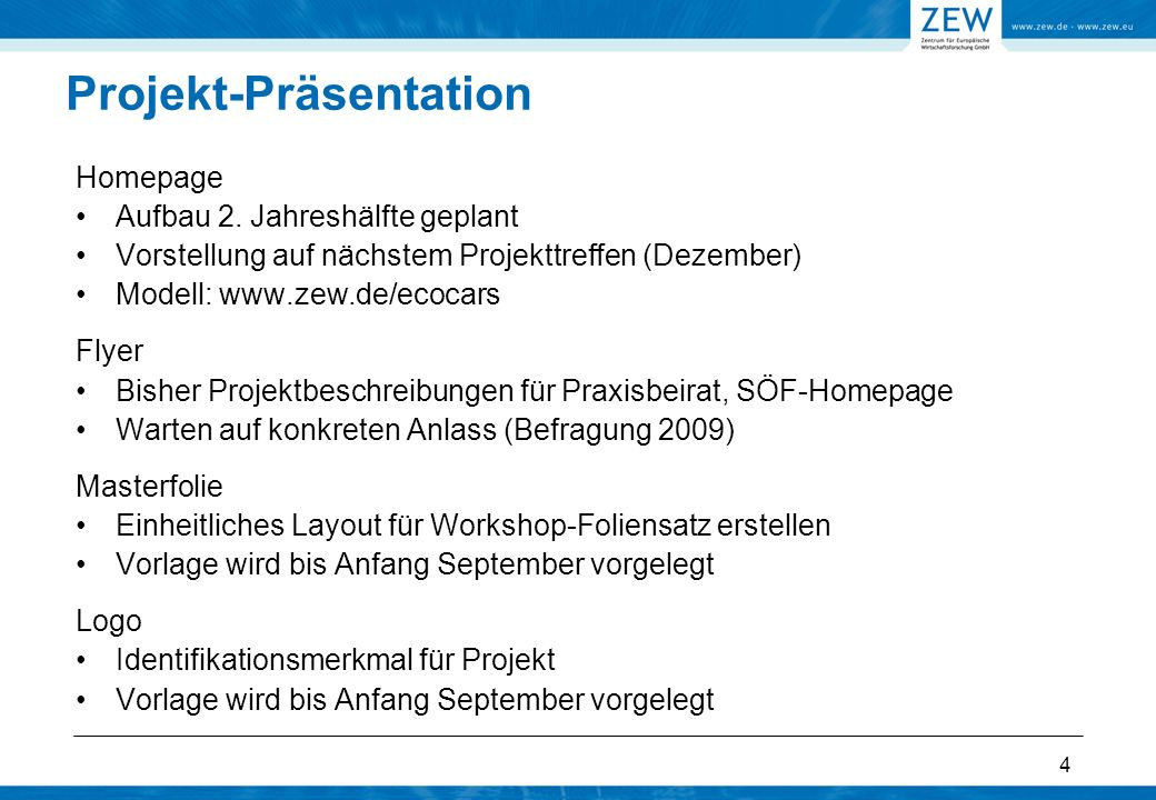 4 Projekt-Präsentation Homepage Aufbau 2.