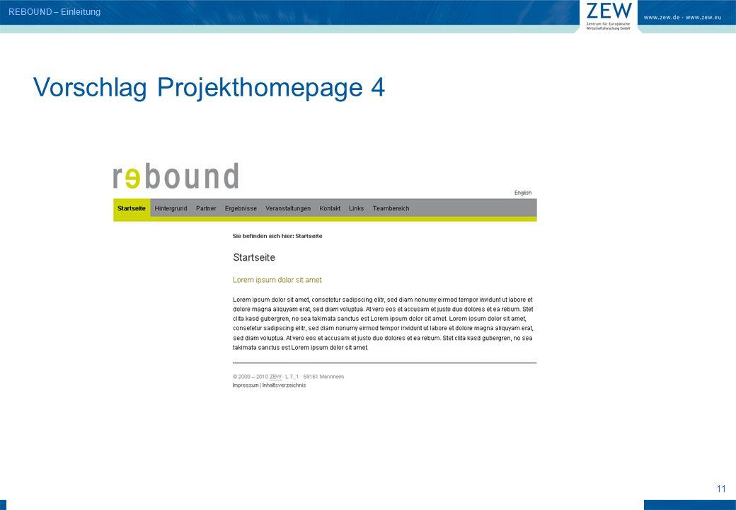 11 Vorschlag Projekthomepage 4 REBOUND – Einleitung
