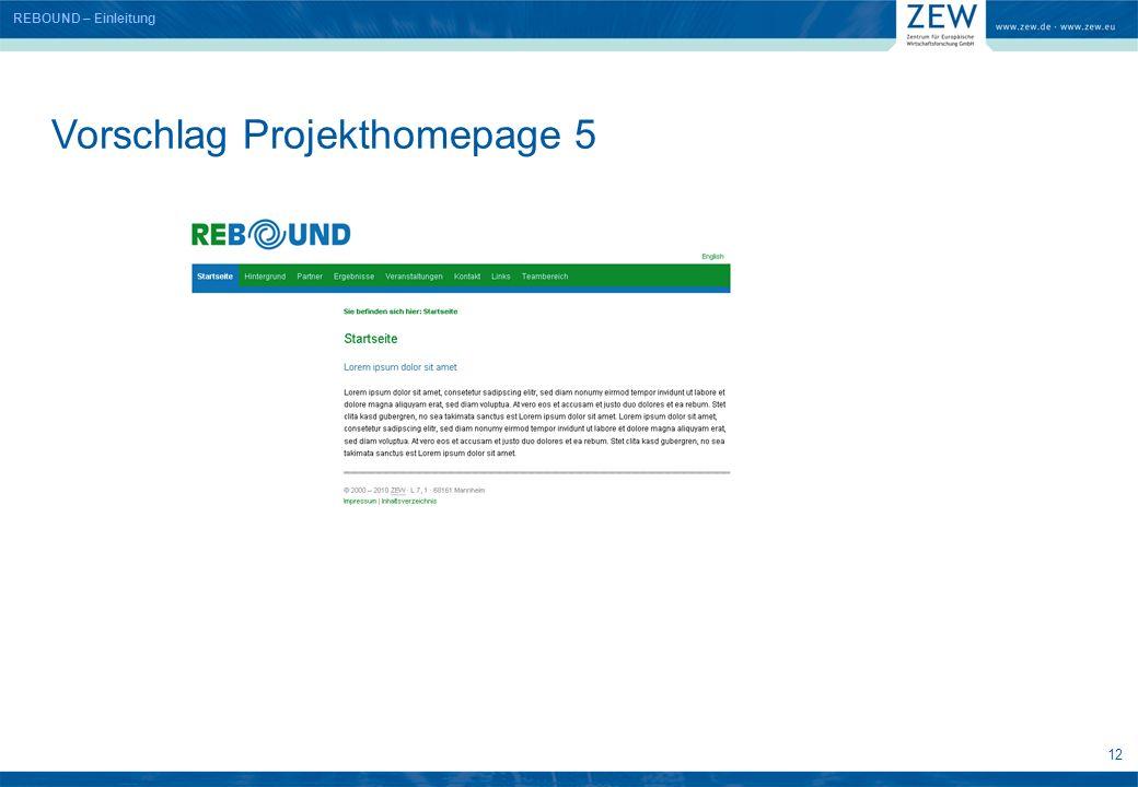 12 Vorschlag Projekthomepage 5 REBOUND – Einleitung