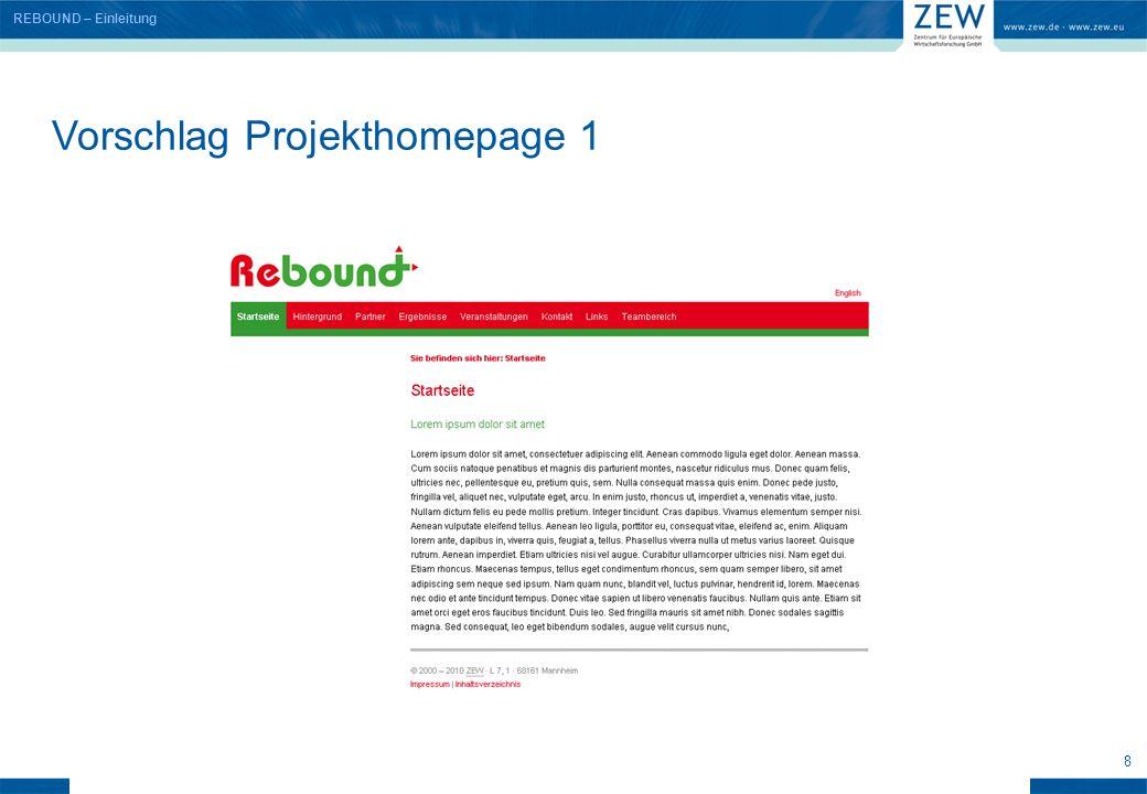 9 Vorschlag Projekthomepage 2 REBOUND – Einleitung