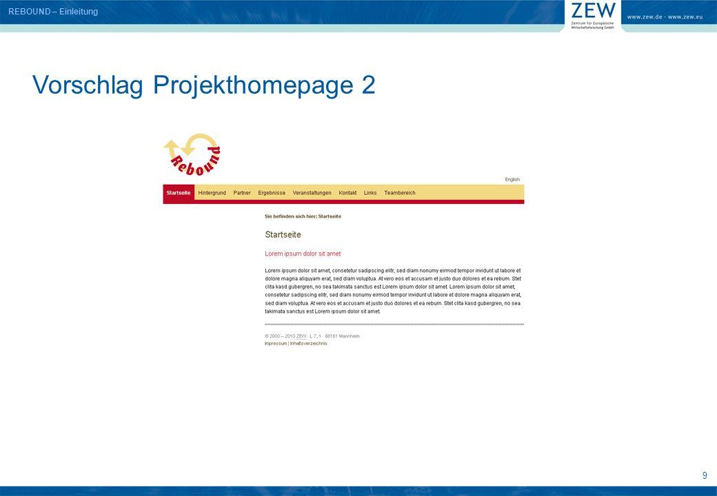 10 Vorschlag Projekthomepage 3 REBOUND – Einleitung