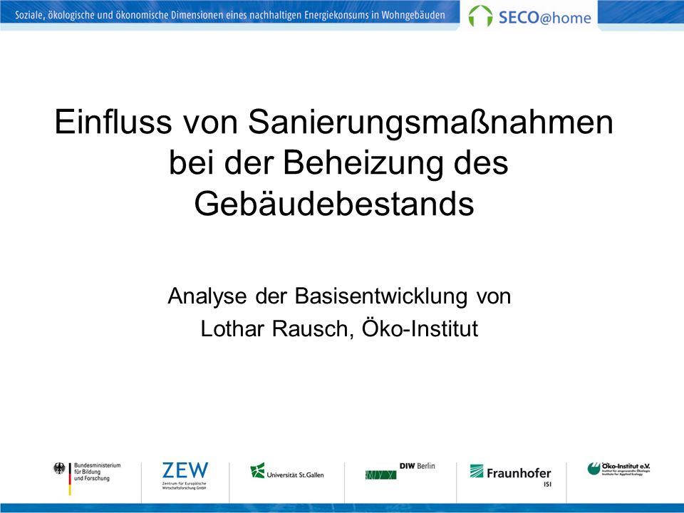 Einfluss von Sanierungsmaßnahmen bei der Beheizung des Gebäudebestands Analyse der Basisentwicklung von Lothar Rausch, Öko-Institut