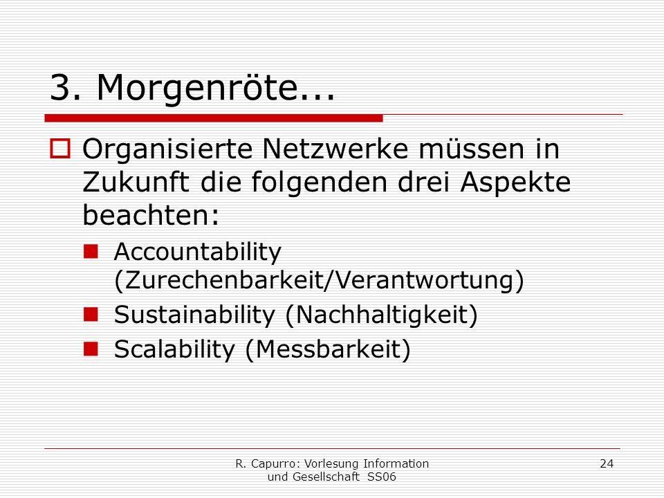 R. Capurro: Vorlesung Information und Gesellschaft SS06 24 3.
