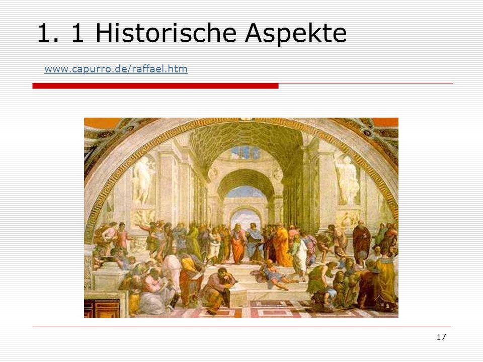 17 1. 1 Historische Aspekte www.capurro.de/raffael.htm www.capurro.de/raffael.htm