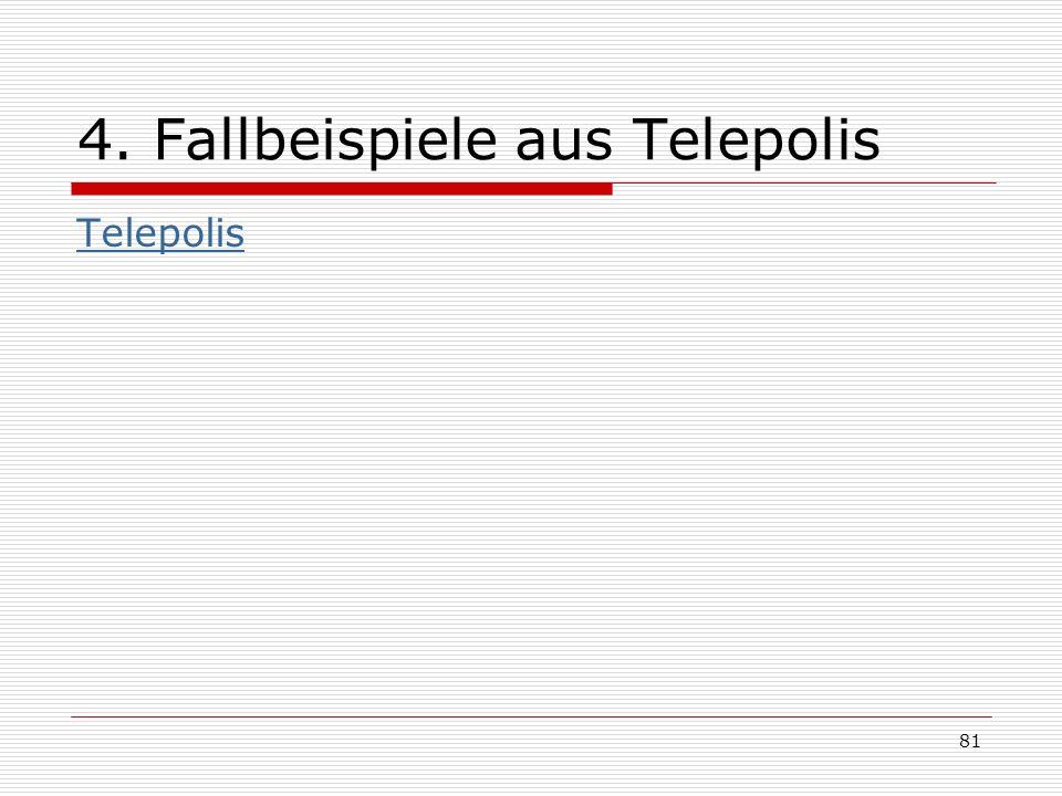 81 4. Fallbeispiele aus Telepolis Telepolis