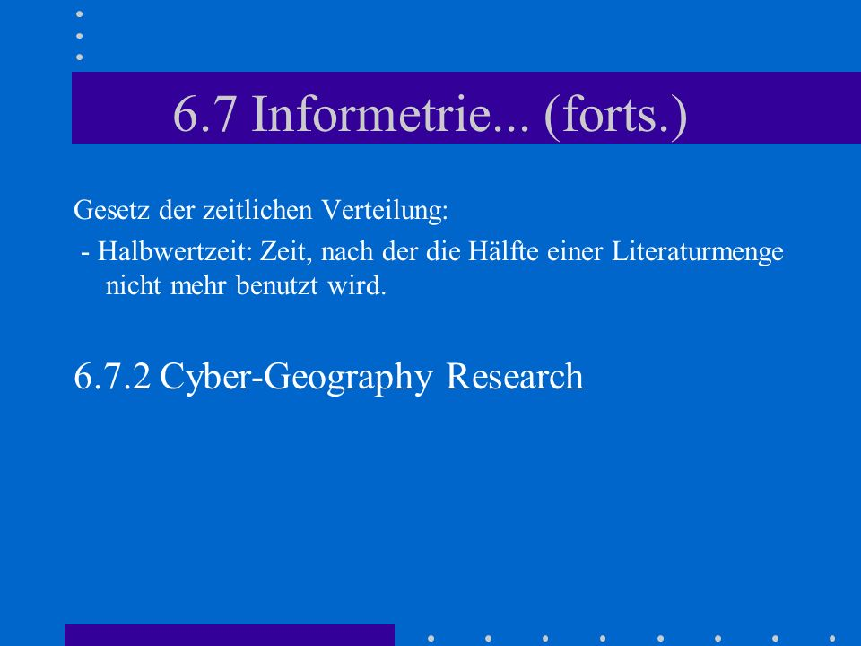 6.7 Informetrie...