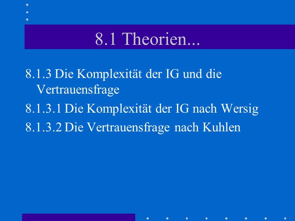 8.1 Theorien...