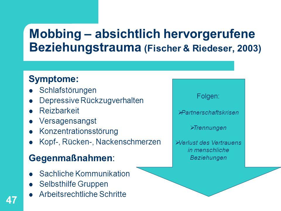 48 Literatur: Fischer, G., Eichenberg, C., Mosetter, K.