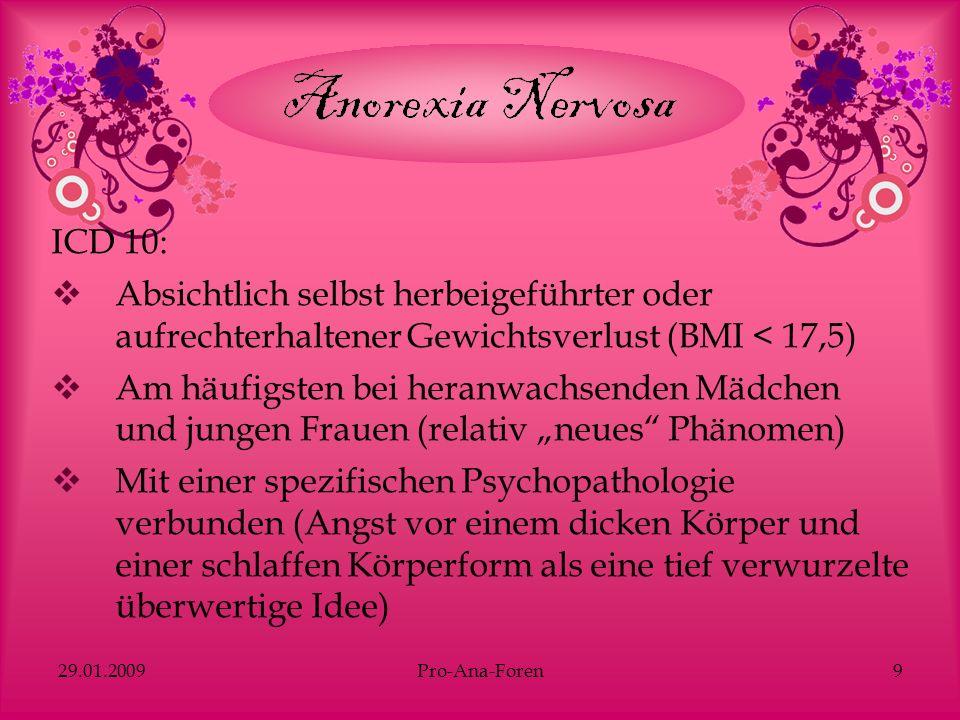 29.01.2009Pro-Ana-Foren20 Mulveen & Hepworth (2006) Interpretative, Phenomenologische Analyse von 15 threads (1.