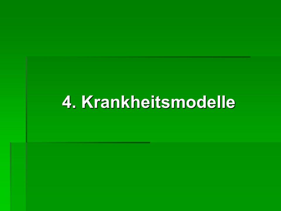 4. Krankheitsmodelle 4. Krankheitsmodelle
