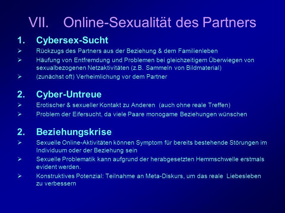 Beispiel: Cybersex-Sucht &- Untreue Ein 44-jähriger Mann war 24 Jahre verheiratet, als seine Frau begann, das Internet zu nutzen.