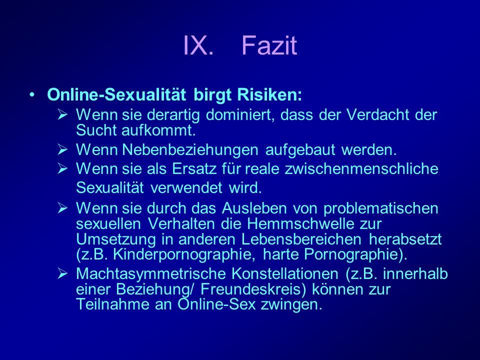 Online-Sexualität bietet Chancen: Als Informations- und Beratungsangebot für Themen (z.B.