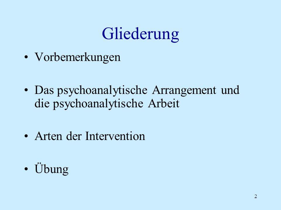 3 Allgemeine Vorbemerkung zur psychoanalytischen Psychotherapie Psychoanalyse hei ß t : psychoanalytisches Arbeiten ohne Zeitbegrenzung und ohne Fokussierung (bzw.